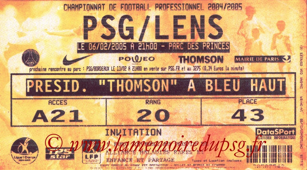2005-02-06  PSG-Lens (25ème L1, bis)
