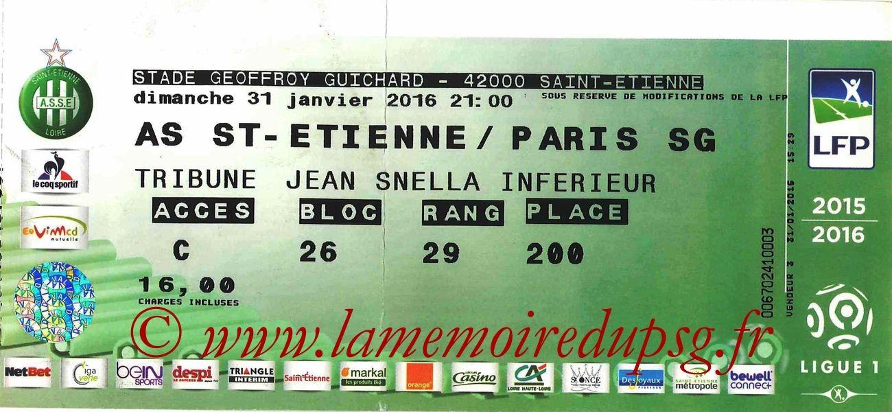 2016-01-31  Saint Etienne-PSG (23ème L1)