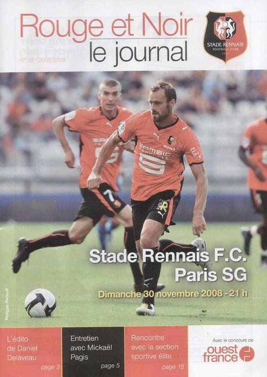 2008-11-30  Rennes-PSG (16ème L1, Rouge et Noir N°9)