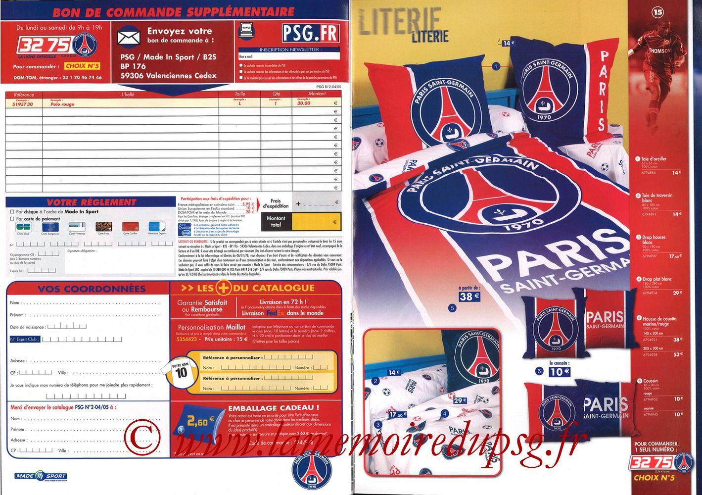 Catalogue PSG - 2004-05 - Pages 10 et 11