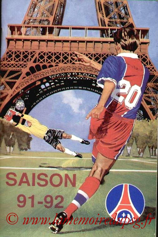 1991-92 - Guide de la Saison PSG