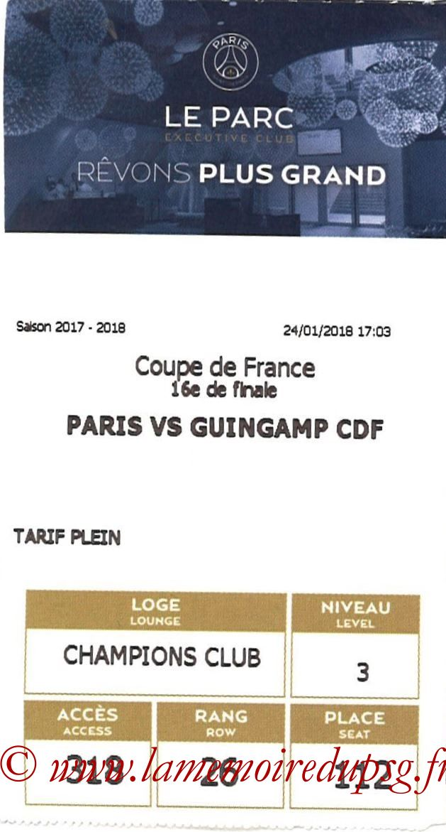 2018-01-24  PSG-Guingamp (16ème CF, E-ticket Executive club)