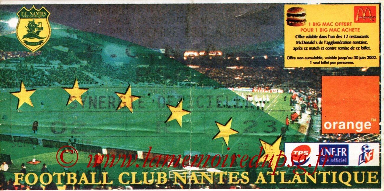 2001-11-25  Nantes-PSG (15ème D1)