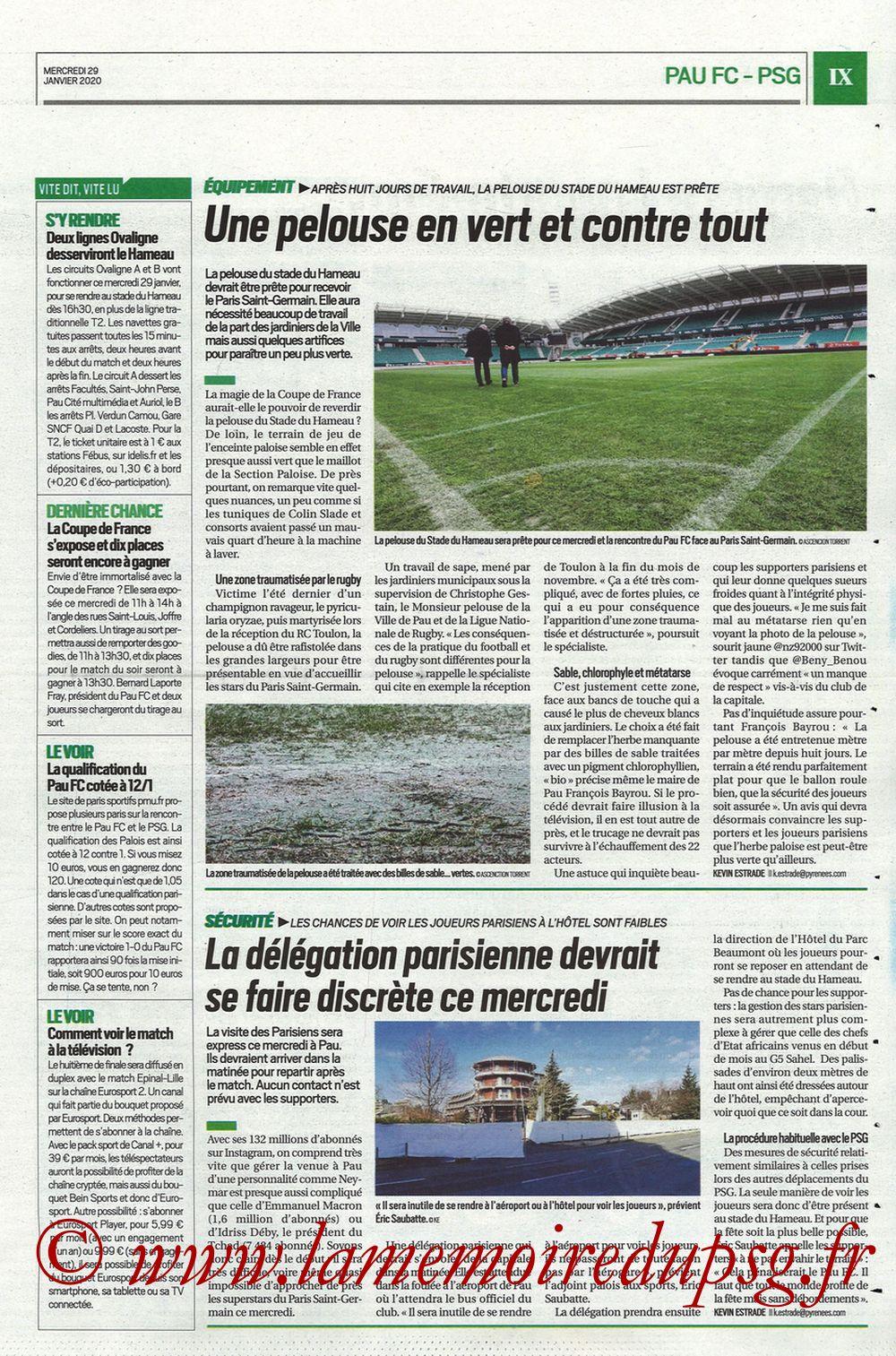 2020-01-29  Pau-PSG (8ème CF, Pyrenees Sports) - Page 09