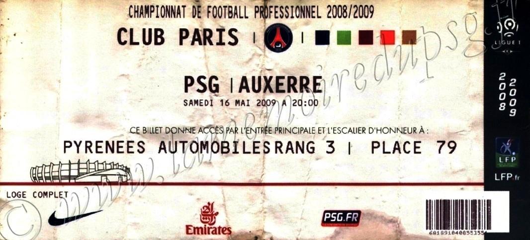 2009-05-16  PSG-Auxerre (36ème L1, Club Paris)