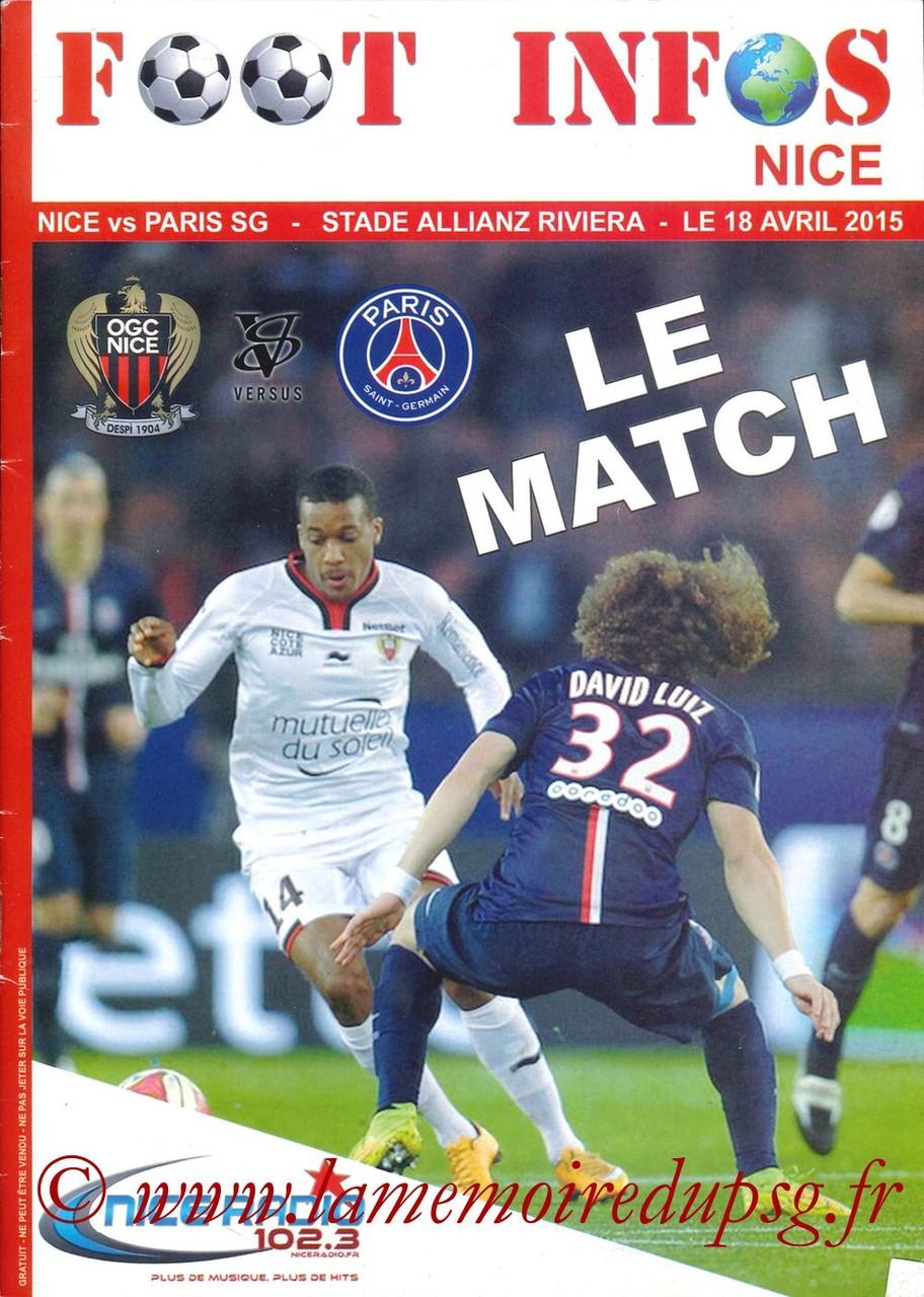 2015-04-18  Nice-PSG (33ème L1, Foot Infos Nice)