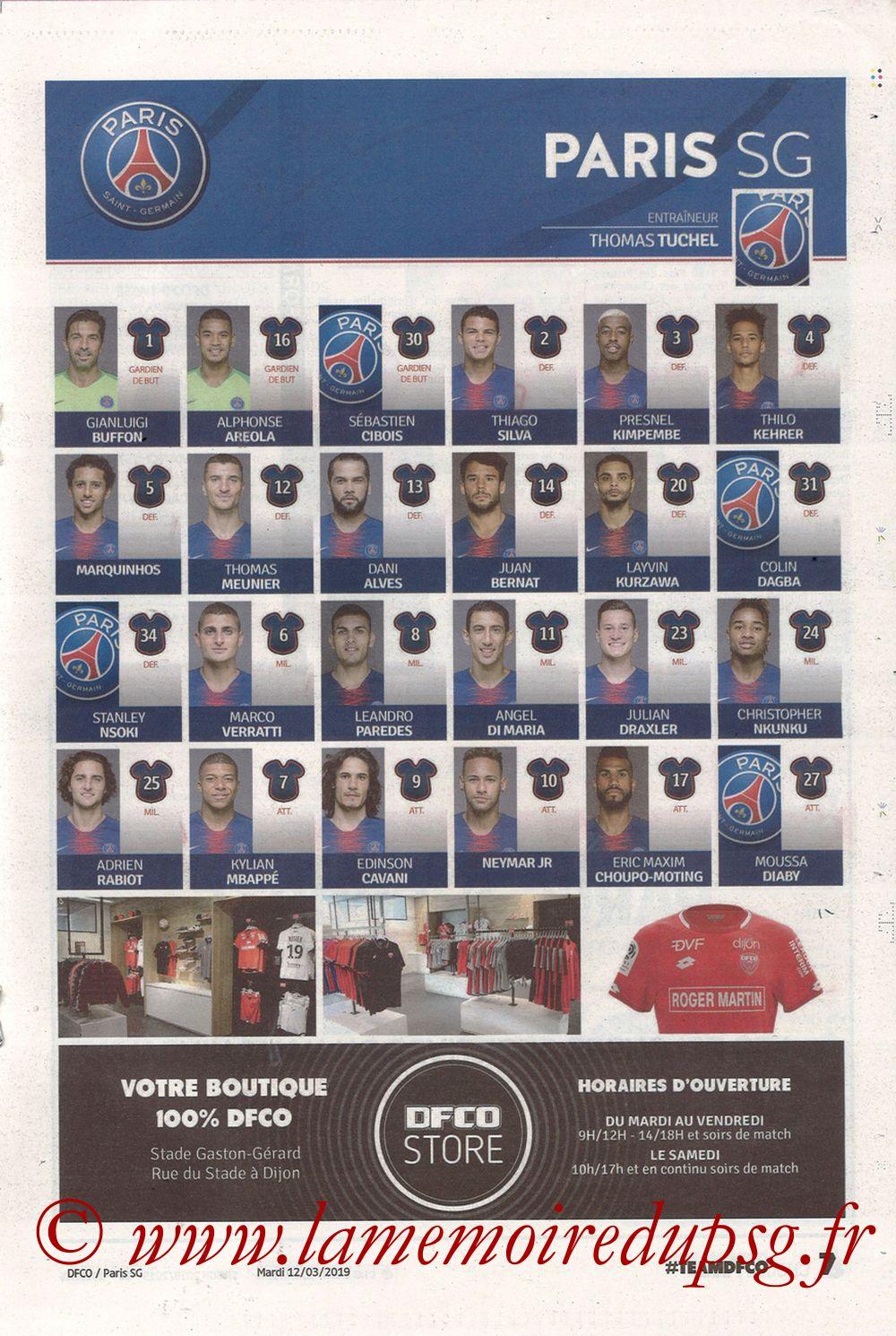 2019-03-12  Dijon-PSG (18ème L1 en retard, Chouett'Infos) - Page 07
