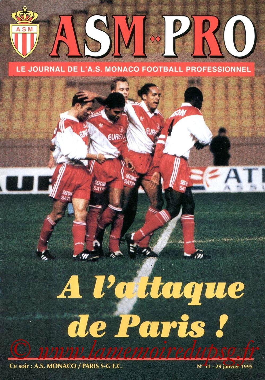 1995-01-29  Monaco-PSG (24ème D1, ASM Pro N°11)