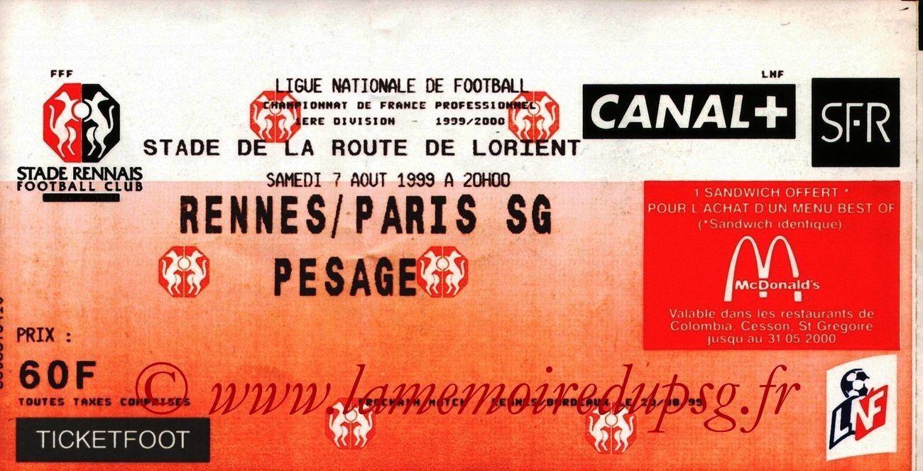 1999-08-07  Rennes-PSG (2ème D1)