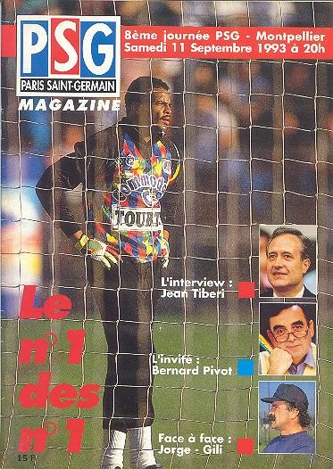 1993-09-11  PSG-Montpellier (8ème D1, PSG Magazine N°1)