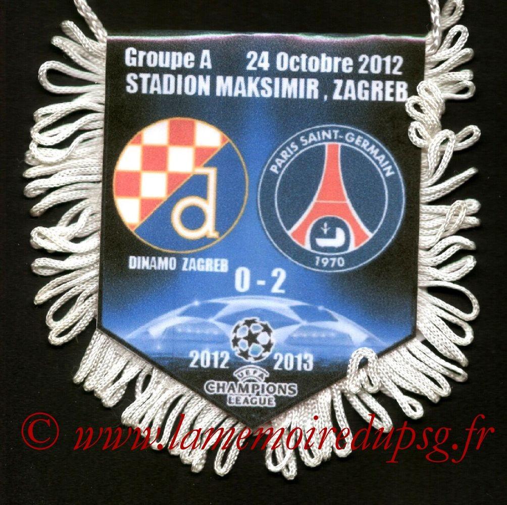 2012-10-24  Dinamo Zagreb-PSG (3ème Poule C1)
