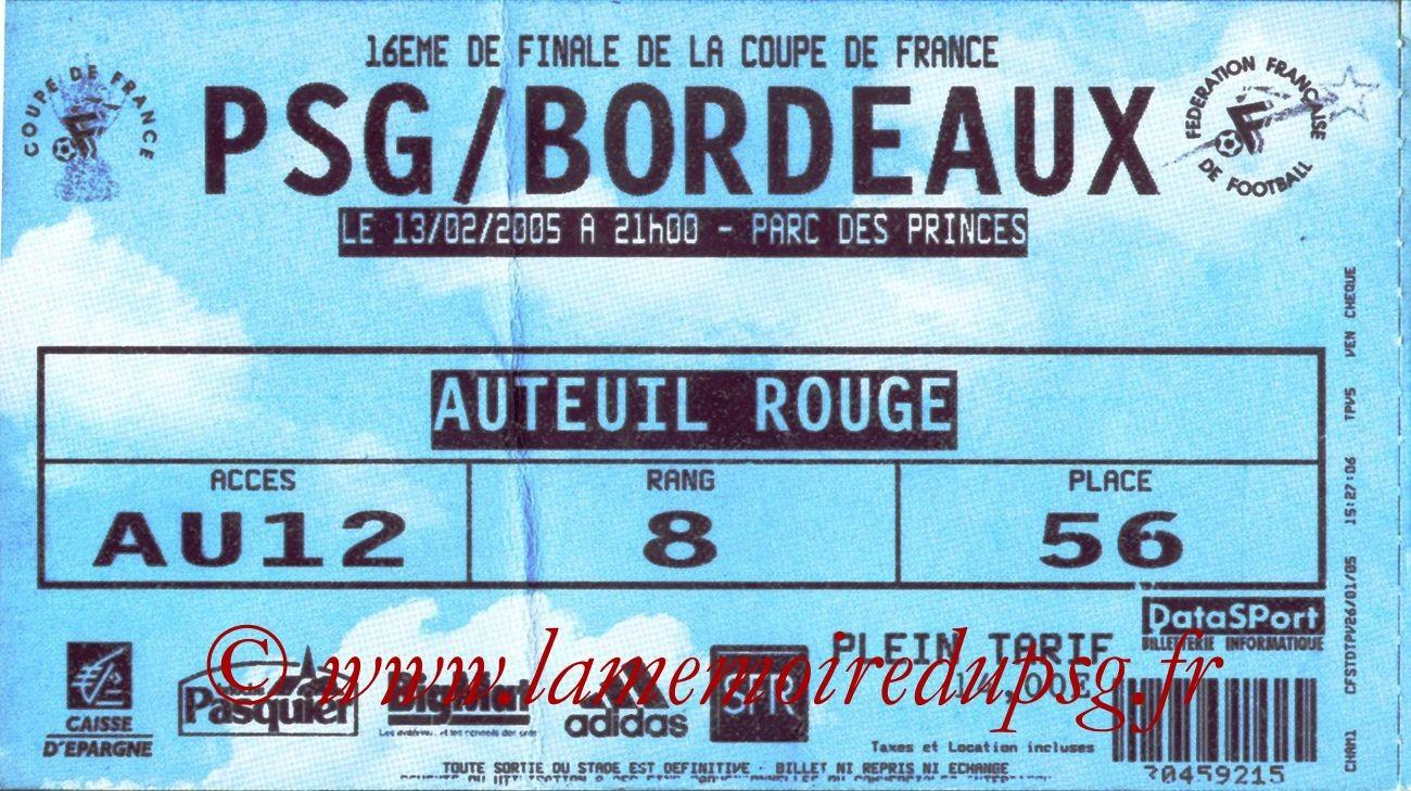 2005-02-13  PSG-Bordeaux (16ème Finale CF, bis)
