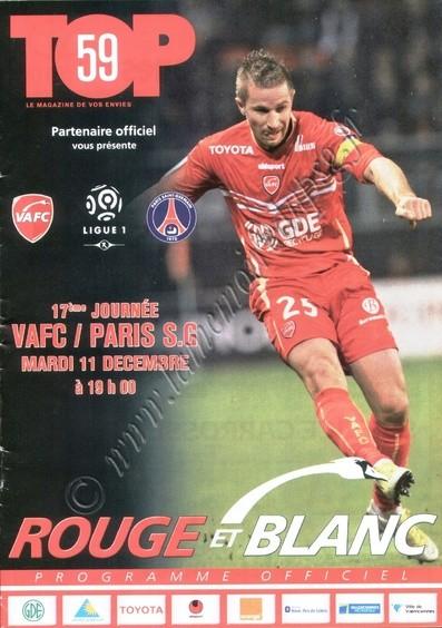 2012-12-11  Valenciennes-PSG (17ème L1, Top59)