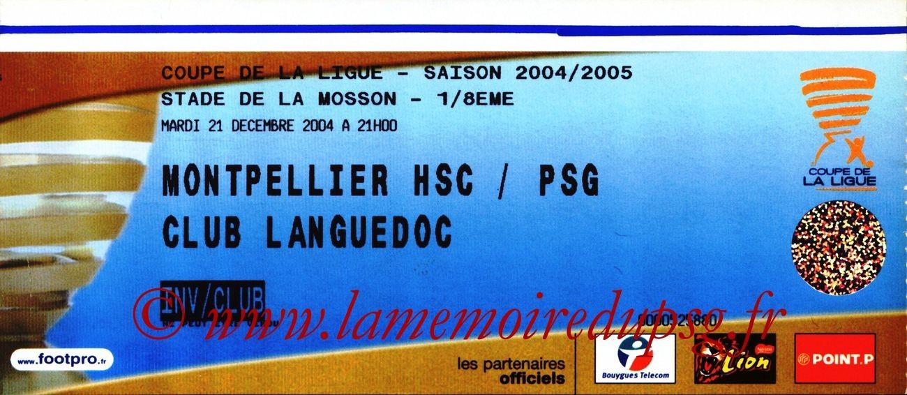 2004-12-21  Montpellier-PSG (8ème finale CL)
