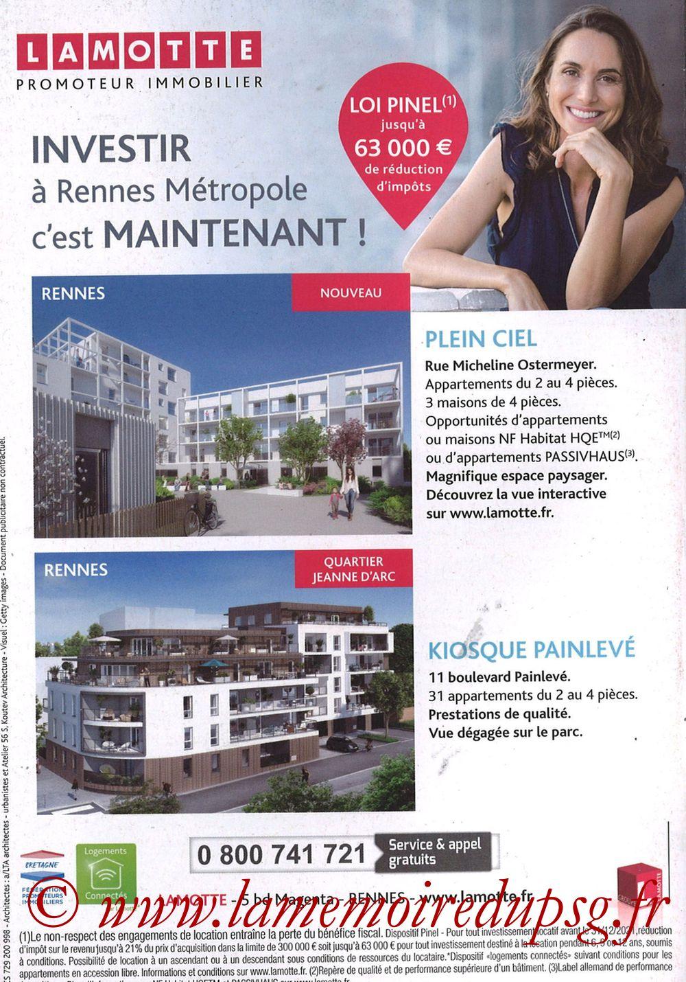 2018-09-23  Rennes-PSG (6ème L1, Programme officiel) - Pages 16