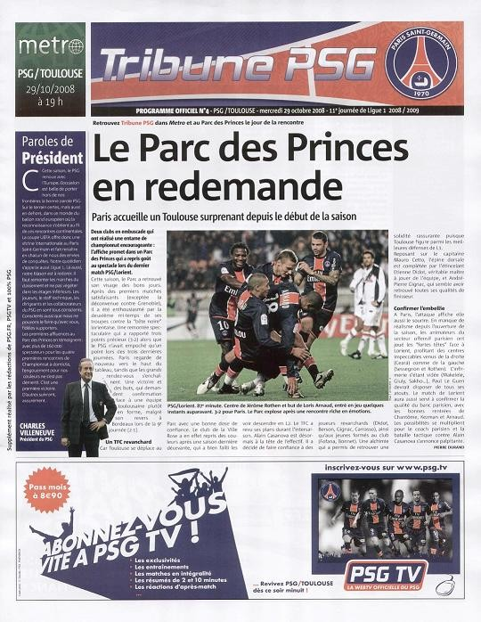 2008-10-29  PSG-Toulouse (11ème L1, Tribune PSG N°4)