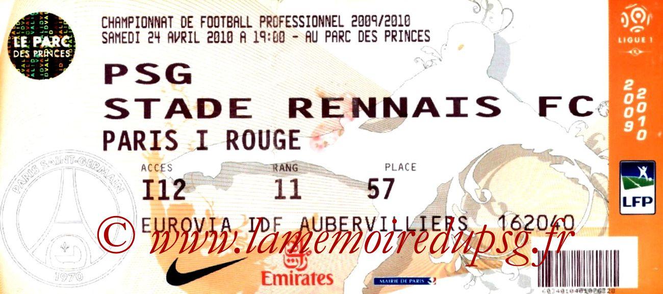 2010-04-24  PSG-Rennes (34ème L1)
