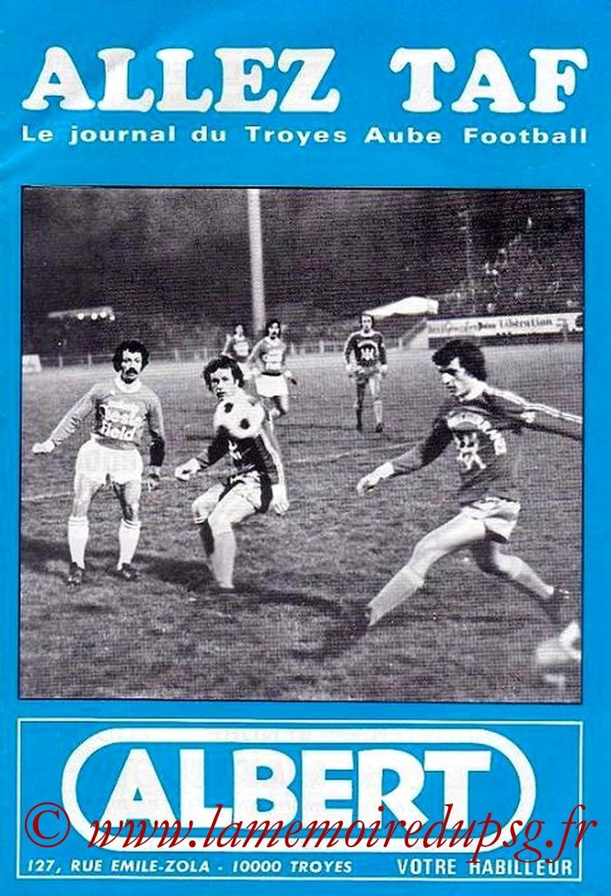 1977-04-28  Troyes-PSG (31ème D1, Allez TAF)