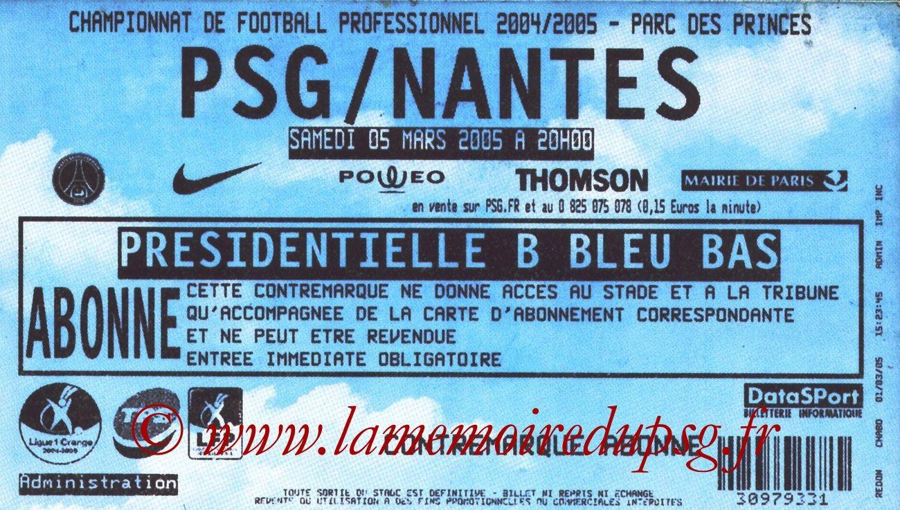2005-03-05  PSG-Nantes (28ème L1)
