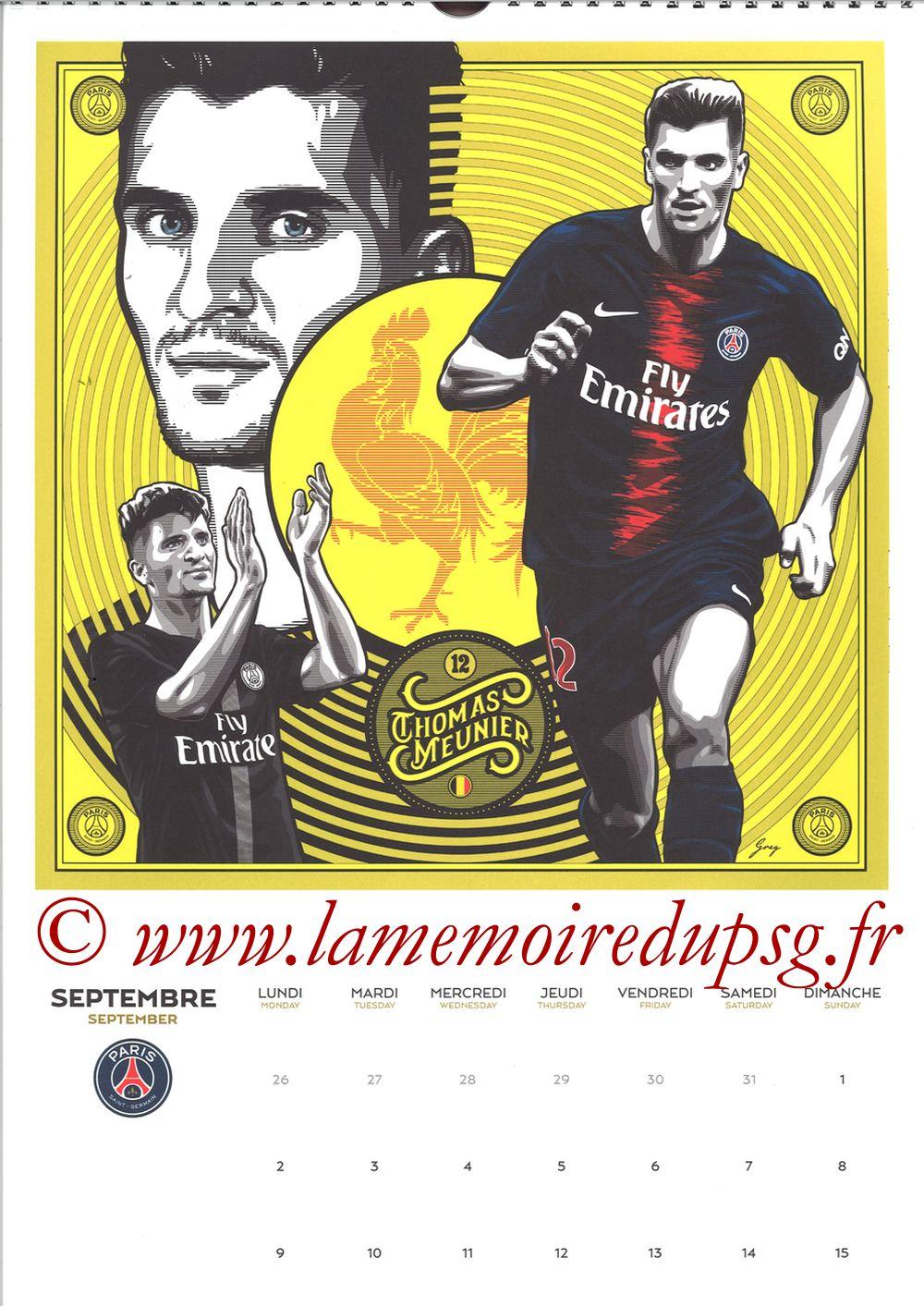 Calendrier PSG 2019 - Page 17 - Thomas MEUNIER
