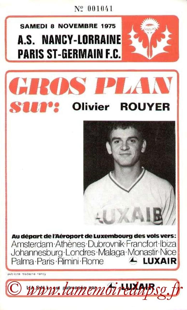 1975-11-08  Nancy-PSG (13ème D1, Officiel)