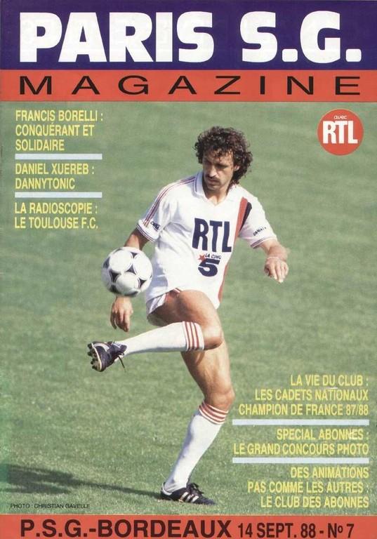 1988-09-14  PSG-Bordeaux (2ème D1 en retard, Paris SG Magazine N°7)