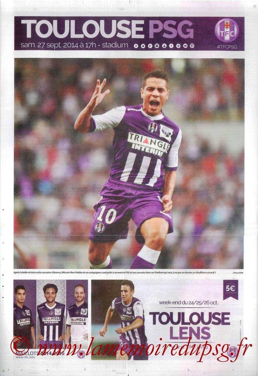 2014-09-27  Toulouse-PSG (8ème L1, Programme officiel)