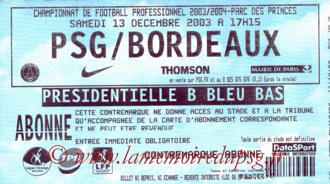 2003-12-13   PSG-Bordeaux (18ème L1)