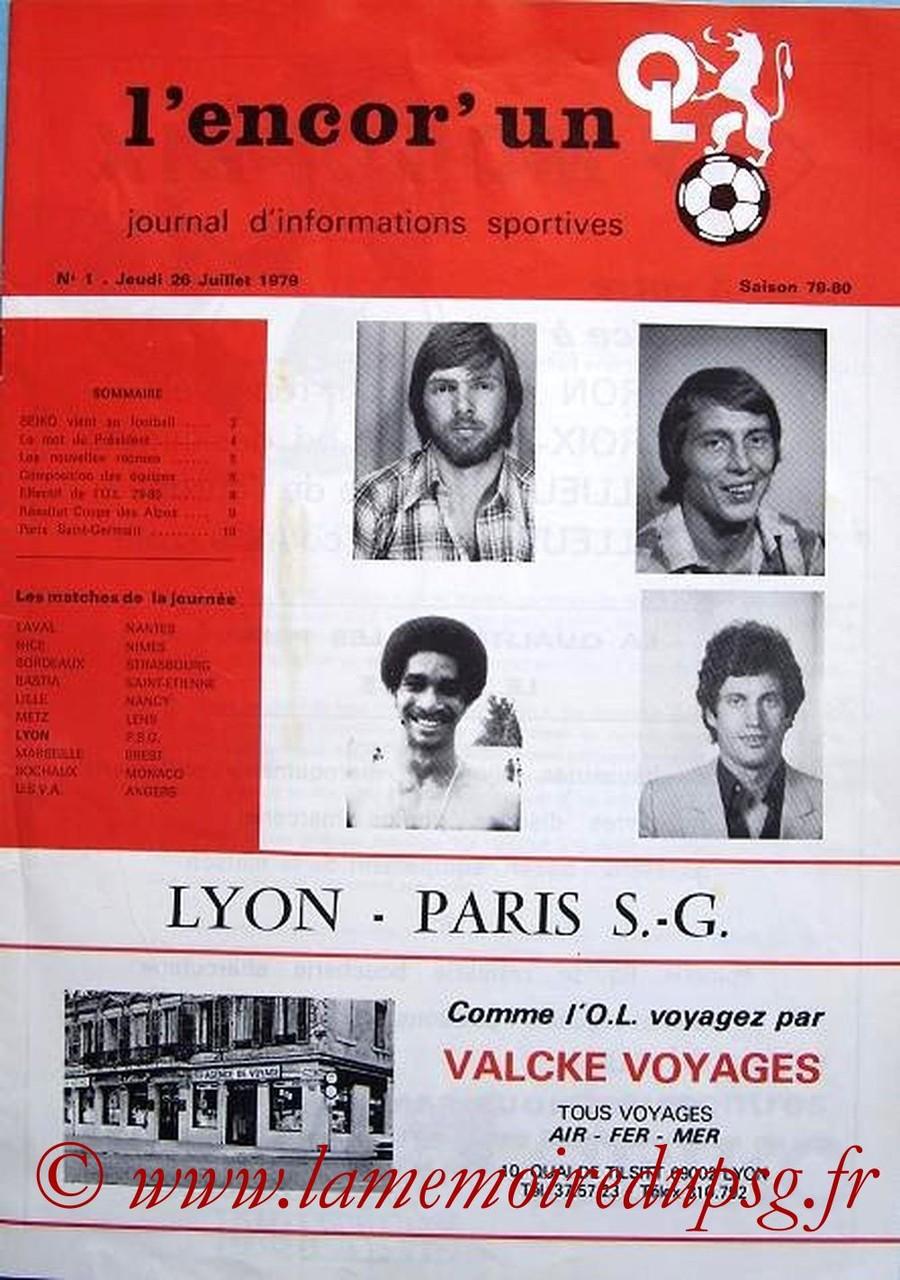 1979-07-26  Lyon-PSG  (1ère D1, L'encor un N°1)