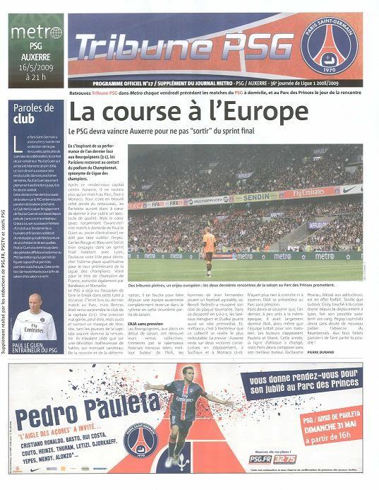 2009-05-16  PSG-Auxerre (36ème L1, Tribune PSG N°17)