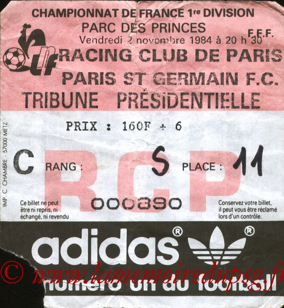 1984-11-02  Racing Paris-PSG (15ème D1)