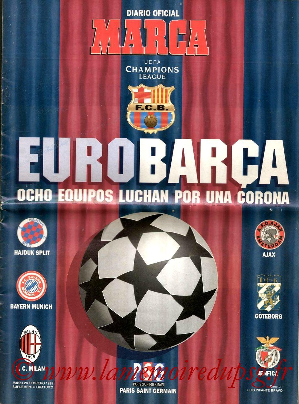 1995-03-01  Barcelone-PSG (Quart Finale Aller C1, Supplément Marca)