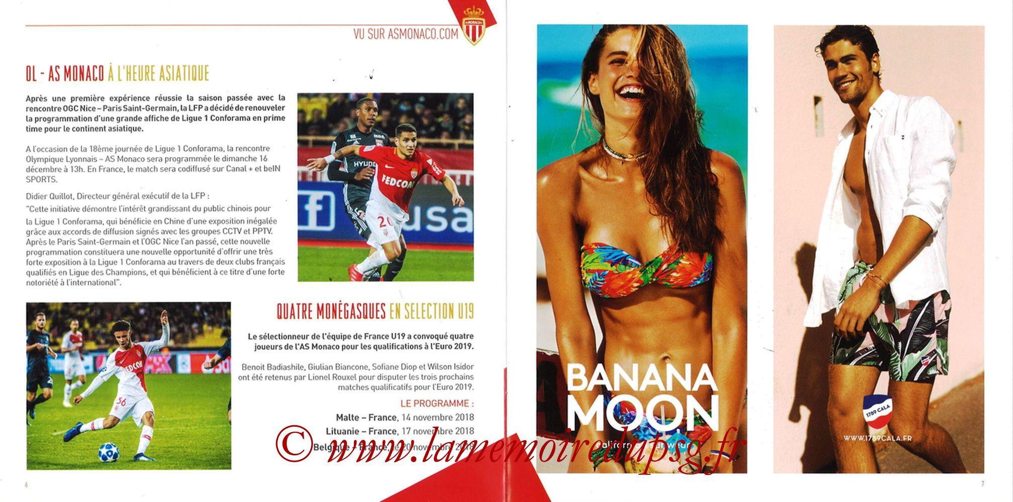 2018-11-11  Monaco-PSG (13ème L1, Programme officiel) - Pages 06 et 07