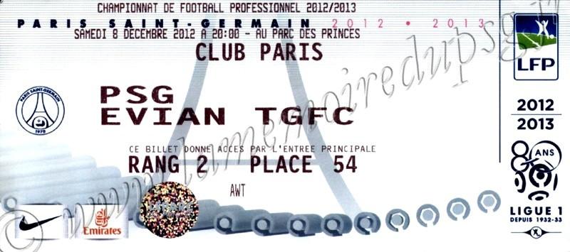 2012-12-08  PSG-Evian (16ème L1)bis