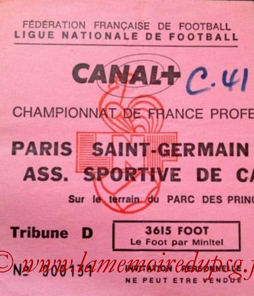 1992-01-19  PSG-Cannes (25ème D1, Invitation)