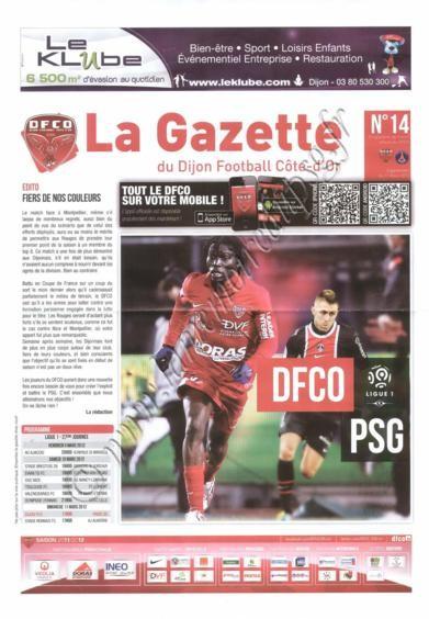 2012-03-11  Dijon-PSG (27ème L1, La gazette du DFCO N°14)