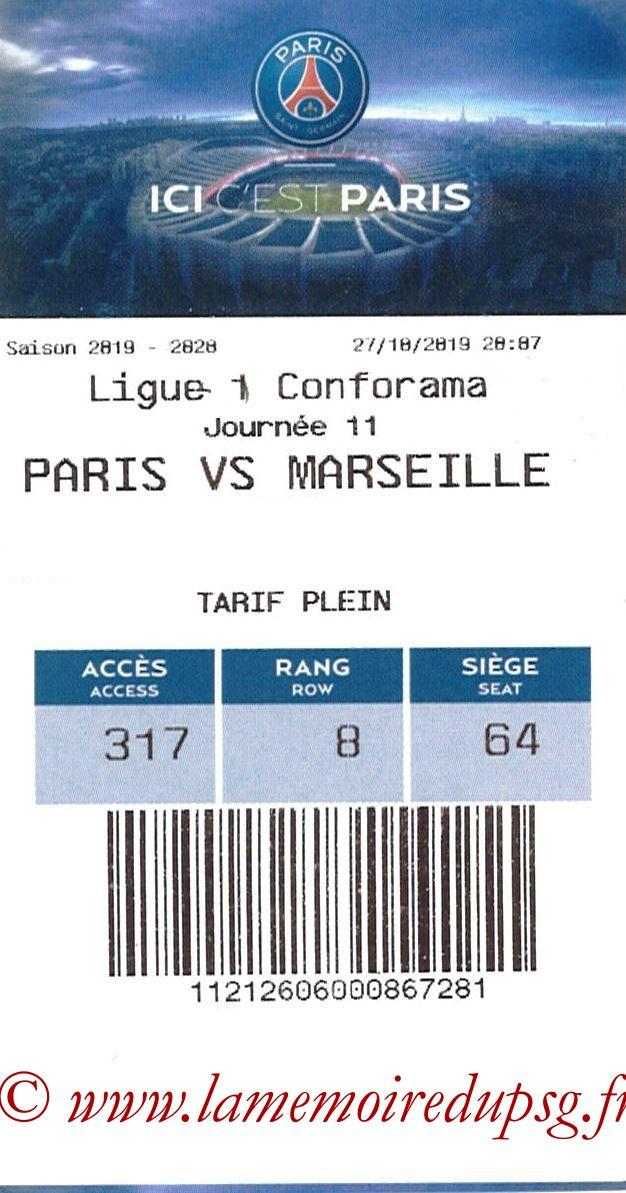 2019-10-27  PSG-Marseille (11ème L1, E-ticket)