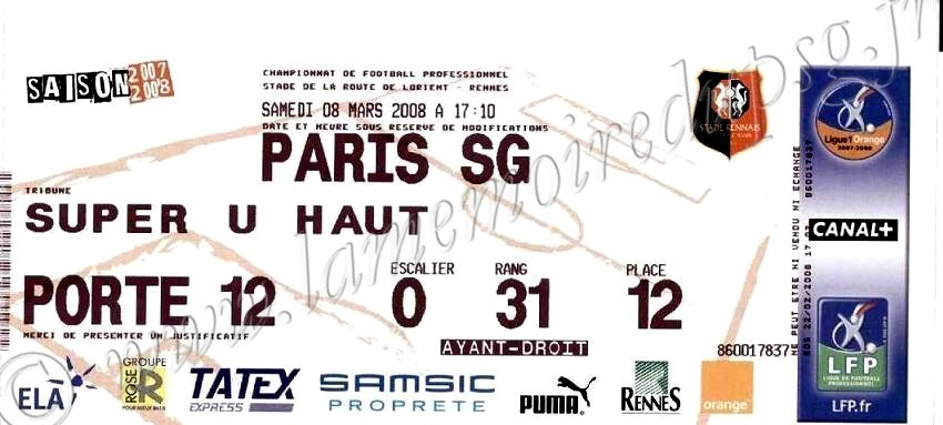 2008-03-08  Rennes-PSG (28ème L1)