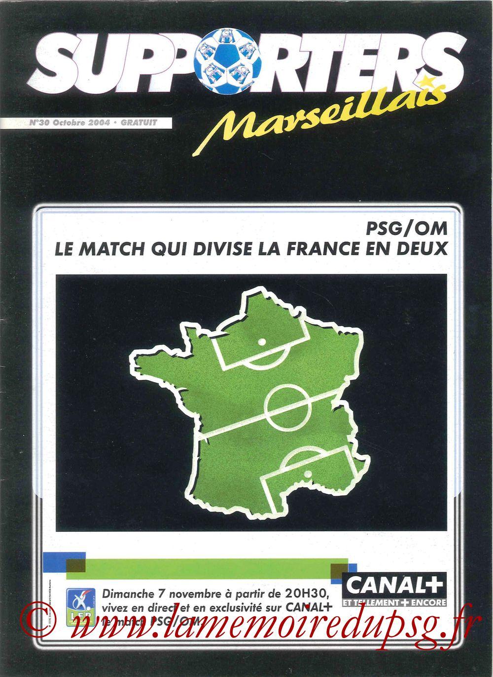 2004-11-07  PSG-Marseille (13ème L1, Supporters Marseillais N°30)