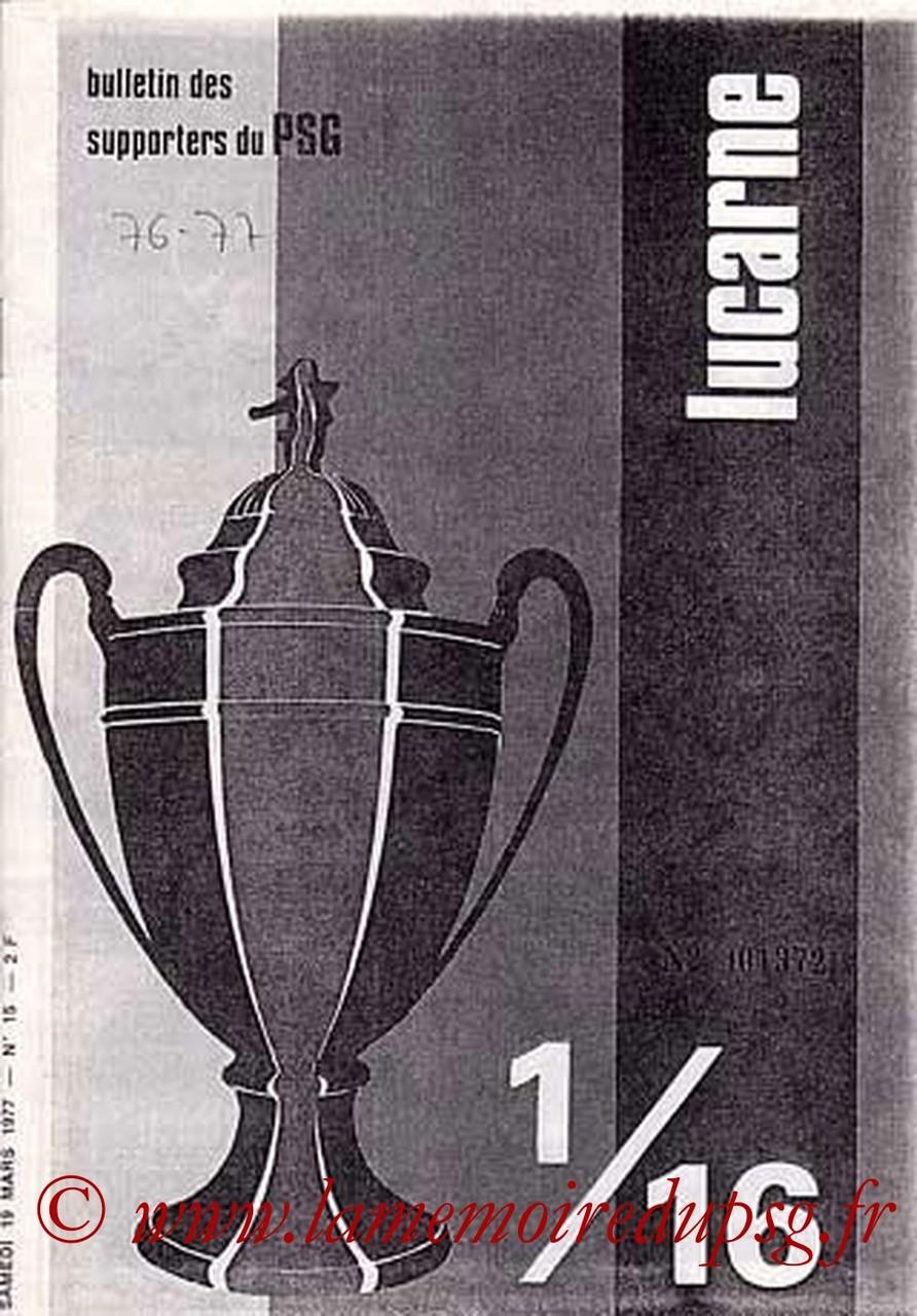 1977-03-19  PSG-Sochaux (16ème Finale Retour CF, Lucarne N°15)