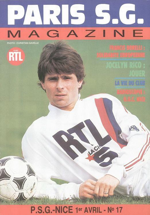 1989-04-01  PSG-Nice (32ème D1, Paris SG Magazine N°17)