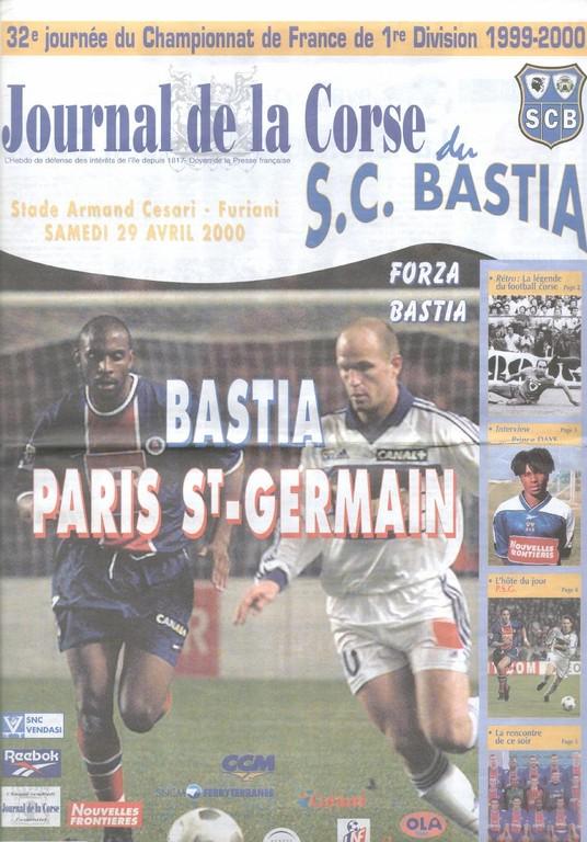 2000-04-30  Bastia-PSG (32ème D1, Journal de la Corse)