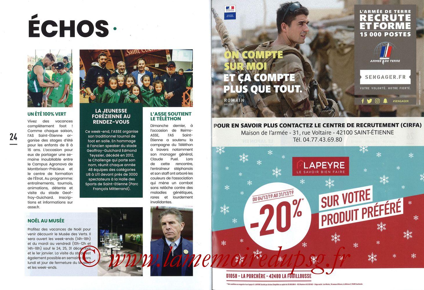 2019-12-15  Saint-Etienne (18ème L1, Maillot Vert N°31) - Pages 24 et 25