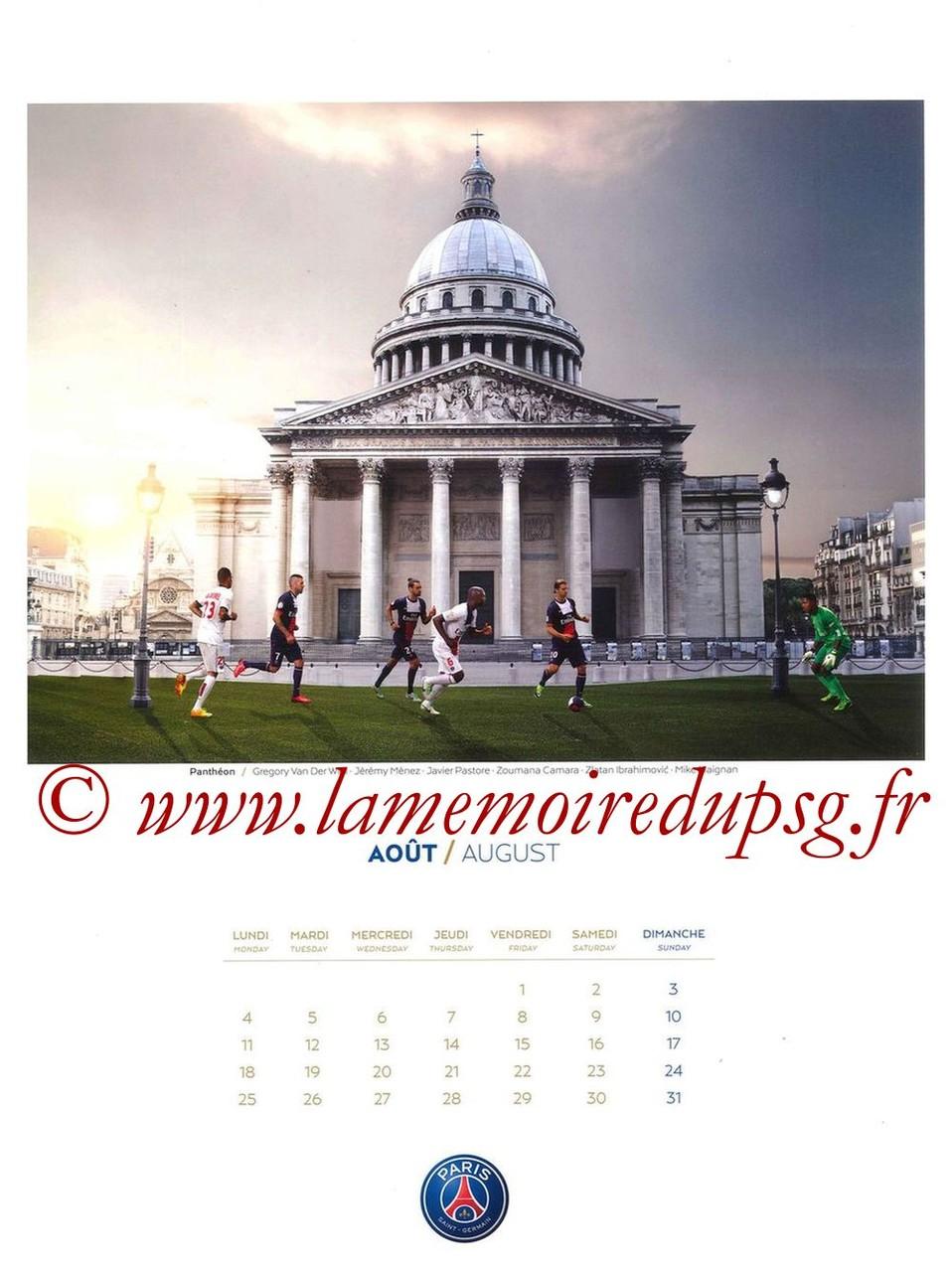 Calendrier PSG 2014 - Page 08 - Panthéon