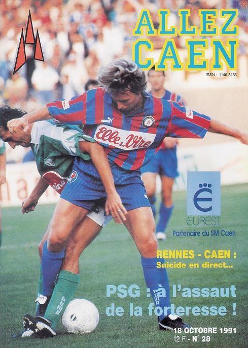 1991-10-19  Caen-PSG (14ème D1, Allez Caen N° 28)