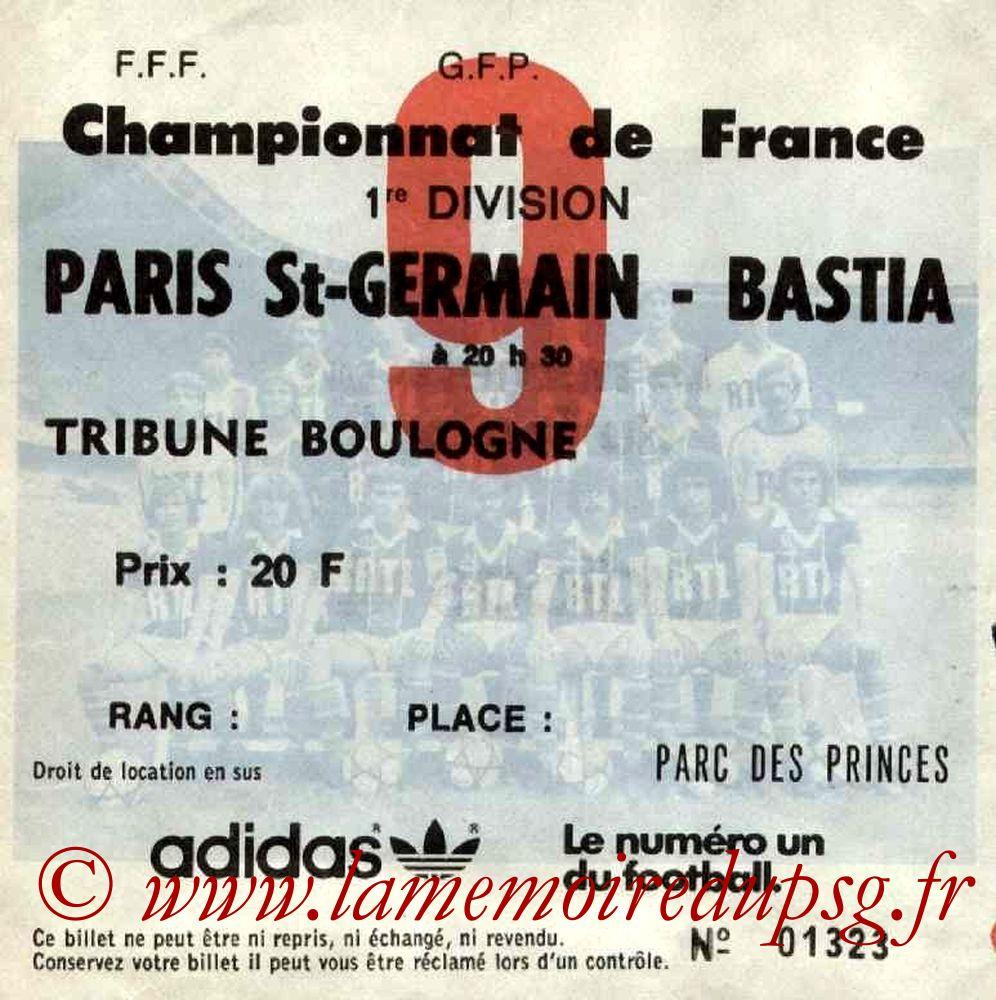 1981-11-24  PSG-Bastia (19ème D1, Ticket N°9)