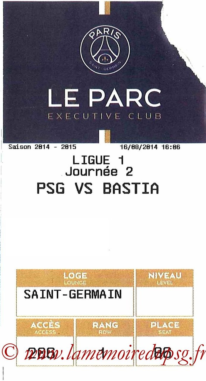 2014-08-16  PSG-Bastia (2ème L1, Executive club, E-ticket)