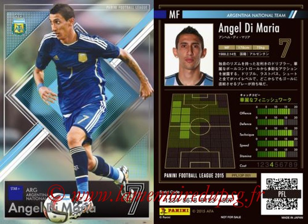 N° P001 - Angel DI MARIA (2015, Argentine > 2015-??, PSG) (Star +)