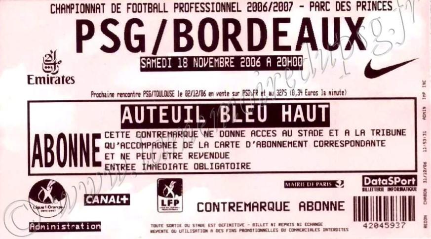 2006-11-18  PSG-Bordeaux (14ème L1)
