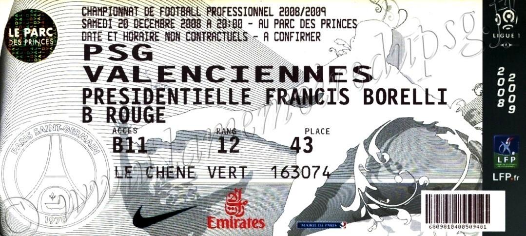 2008-12-21  PSG-Valenciennes  (19ème L1, bis)